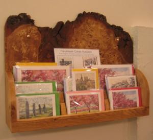 Bespoke Timber Card Display - burr