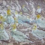 Gannets - Batik Process Stage 3